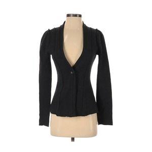 Tabitha Small 100% Wool Blazer Dark Gray Raw Hem